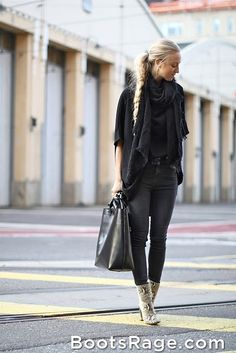 All Black - Women Boots And Booties #fallfashion #PTCtrends