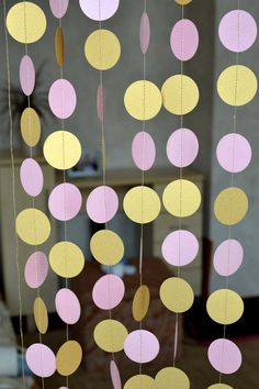 Gold Pink circle garland, Twinkle Twinkle Little circle Garland, pink Baby Shower decor, girl birthday party garland,