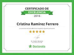 Certificado Excelencia Happy Soul Psicologia