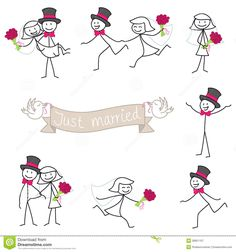 Wedding Couple Stickman Bride And Groom - Download From Over 40 Million High Quality Stock Photos, Images, Vectors. Sign up for FREE today. Image: 38951107