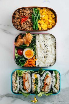 carefullybifunow Meal Prep Bento Recipes Ideas: 3 Dollar Bento Challenge • Just One Cookbook -  These 3 EASY and BUDGET-friendly MEAL PREP ideas for BENTO prove that eating HEALTHY can be DELICIO - #bento #BudgetRecipes #challenge #CleanEatingMeals #cookbook #dollar #HealthyMeals #ideas #Meal #Prep #recipes<br>