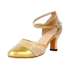 Customized Women's Leatherette With Net Upper Modern Dance Shoes(More Colors) – USD $ 19.19