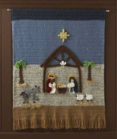 Maggie's Crochet � Nativity Afghan and Wall Hanging Crochet Pattern #crochet #pattern #afghan #nativity #Jesus #religious #Christmas #holiday #church