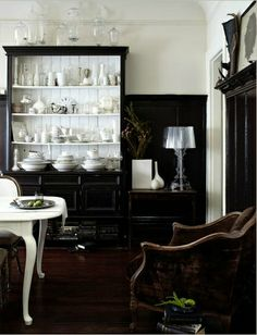 like the white paint in the black cupboard
