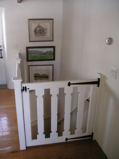 traditional staircase by Peter Zimmerman Architects Gate at the top of the stairs! Home Projects, Traditional Staircase, Interior, Baby Gates, Remodel, New Homes, Home Decor, Home Diy, Stairs