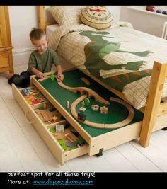 #DIYcozyhome.com hidden underbed toy storage