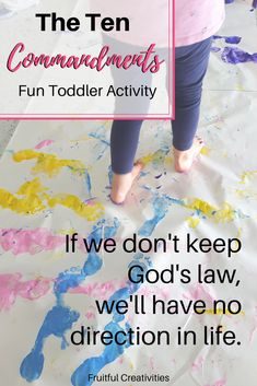 Wondering how to teach the ten commandments in a fun way? This ten commandments activity is perfect to teach toddlers to walk in God's way! Such great fun! Fun Activities For Toddlers, Bible Activities, Preschool Bible, Family Activities, Learning Activities, Easy Toddler Crafts, Easy Crafts, Christian Kids, Christian Living