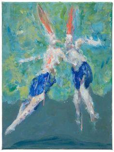Valerie Favre (lives & works in Berlin, Germany) -Ghost & woman, 2009, oil on canvas, 11 3/4 x 9 1/2 in. Udk Berlin, Artist Profile, Berlin Germany, Paintings, Oil, Artists, Woman, Canvas, Pets