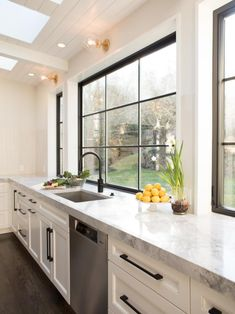 Looking for Kitchen ideas? Browse Kitchen images for decor, layout, furniture, and storage inspiration from HGTV. Kitchen Inspirations, Kitchen Addition, Home Kitchens, Countertops, Kitchen Design, Kitchen Remodel, Kitchen Renovation, Kitchen Window Design, Skylight Kitchen