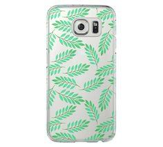 Green Print Samsung Galaxy S6 Edge Clear Case Galaxy S6 Transparnet Case S5 Hard Case iPhone Crystal  Case