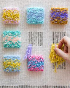 Episode Weaving Wall Hangings with Allyson Rousseau – Laquita Dematteo – – ed mckee 506 – weberei Weaving Textiles, Weaving Art, Weaving Patterns, Loom Weaving, Tapestry Weaving, Hand Weaving, Stitch Patterns, Knitting Patterns, Textiles Techniques