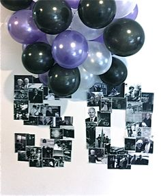 My version  - Did this for my husband's 50th. There he is! Thanks Pinterest!