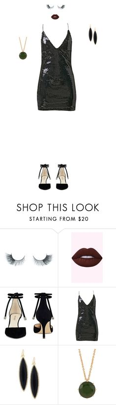 """I did it again"" by hrockholt ❤ liked on Polyvore featuring Unicorn Lashes, Nine West, GUESS and Les Néréides"