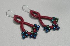 Hey, I found this really awesome Etsy listing at https://www.etsy.com/listing/114334115/tatting-beaded-burgundy-dangles-finished