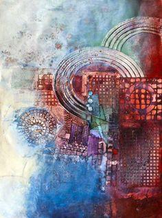 Sharon Blair: Inner Workings www.sharonblair.com.au - Art For Inspired Interiors - Mixed Media Artwork: Abstract