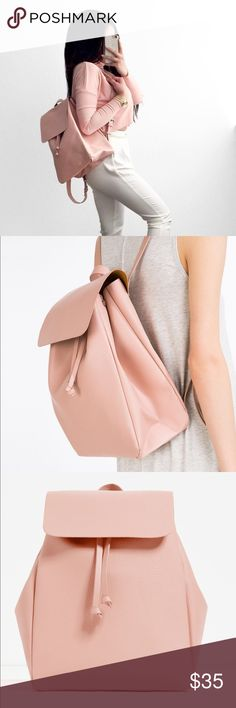 Brand New Pale Pink Back Pack Brand New.dimension:16x11 Zara Bags Backpacks