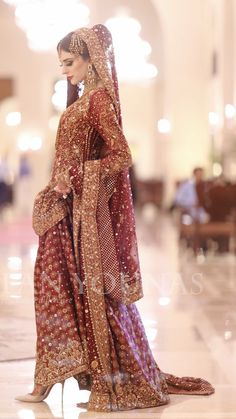New Pakistan girls Muslim Wedding Dresses, Pakistani Wedding Outfits, Indian Bridal Outfits, Dress Wedding, Walima Dress, Shadi Dresses, Indian Dresses, Indian Bridal Lehenga, Pakistani Wedding Dresses