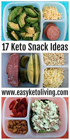 17 Keto Snacks On The Go Ideas - Easy Low Carb Ketogenic Diet Snacks for on the road, run, work or late night. Sweet and savory snack ideas that require little to no preparation. paleo for beginners losing weight
