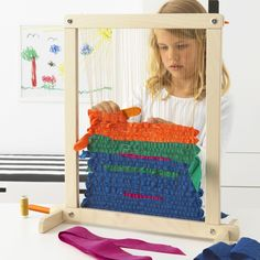 How To Make Your Own Beading Patterns Arts And Crafts Storage, Craft Storage, Art For Kids, Crafts For Kids, Ikea Family, Thread Spools, Loom Weaving, Weaving Loom For Kids, Fabric Ribbon