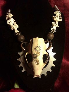 Khaos by Design tribal belly dance  animal bones jewelry taxidermy jewelry https://www.etsy.com/shop/KhaosByDesign?ref=si_shop
