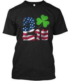 2018   St. Patricks Day Shirt Black áo T-Shirt Front