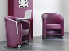 #Inca. This fully #upholstered #tub #chair is an ideal addition to any #lobby, #office or #breakout area. Inca is offered with an under seat #storage shelf and swing away writing #tablet making this a #versatile solution to any environment.