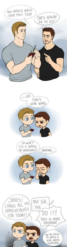 Tony teaching Steve about Star Wars - Imgur