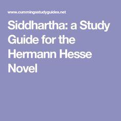 Siddhartha: a Study Guide for the Hermann Hesse Novel