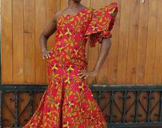 Dashiki Gown/ Dashiki Dress/ African Prom Dress/ by AdinkraExpo Dashiki Dress, Ankara Dress, African Prom Dresses, African Fashion Ankara, African Women, Midi Skirt, Ann, Gowns, Etsy