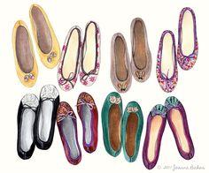 Joanna Baker - Fashion Art Design Creative Blog: Fancy Flats...