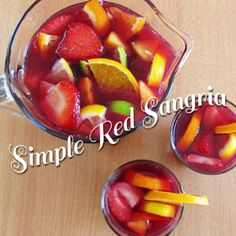 Simple Red Sangria. 5/24/14: Made and it was GREAT! Very close to my Spain experience. But don't forget to add red and green apples and to let it sit overnight!