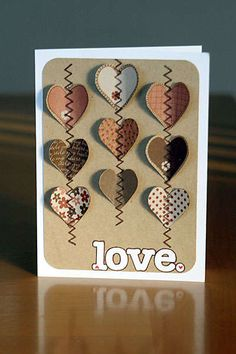 Fun hearts. This would look very cool using white, black and red decorated with flowers