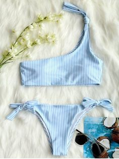 GET $50 NOW | Join RoseGal: Get YOUR $50 NOW!https://www.rosegal.com/bikinis/one-shoulder-stripe-knot-bikini-set-1997291.html?seid=4514413rg1997291