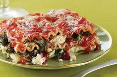Kale Lasagna Diavolo. Warm up a winter evening with a spicy lasagna that gets hearty texture from chopped kale. Goat cheese mashed into traditional ricotta gives it a flavorful tang.