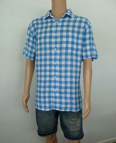 #Check out Blazer Men's Linen Short Sleeve Shirt Size XXL Like New In Blue Check #Blazer https://www.ebay.com.au/itm/162798021629?roken=cUgayN&soutkn=CXj7Lo via @eBay