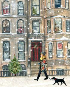 Rachel Grant Simple Things Magazine, Rachel Grant, Winter Landscape, Vintage Holiday, Christmas And New Year, Winter Wonderland, I Am Awesome, Illustration Art, Art Prints
