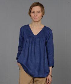 5c718b8ef5 Naomi V-Neck Top  Iris – Shop Fog Linen