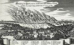 Merian - During the Great Fire of London - 1666