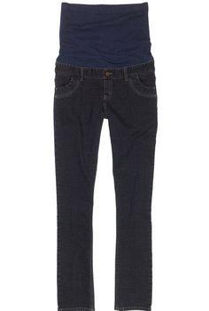 "Womens Long Tall Sally Maternity Slim Leg Blue Jeans Size 16 Denim 35"" Panel #LongTallSally #4pocketbeltloopsstretchypanelPullonfauxzipperandfrontbutton"