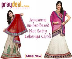!!! OFFER !!! OFFER !!! OFFER !!! Awesome Embroidered Net Satin Lehanga Choli