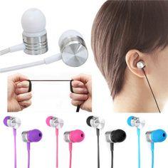 3.5mm Mic In Ear Stereo Earbud Headset  Headphone Earphone