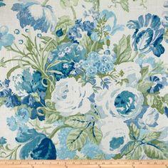P Kaufmann Sag Harbor Bluebell $23.98/y Contents: 55% Linen/45% Rayon Fabric Weight: medium/heavyweight