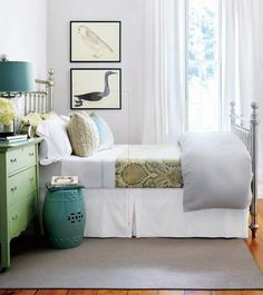 simply relaxing .. if i were a guest in this guest room i would never want to leave it.