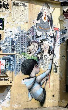 Seth, paddy, Jana & Js ... - street art - Paris 13 - rue de la butte aux cailles