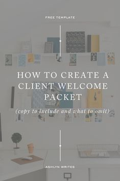 How to Create a Welcome Packet: Copy to Include (and Omit) Business Advice, Business Entrepreneur, Business Planning, Business Marketing, Online Business, Online Marketing, Marketing Plan, Business Design, Creative Business