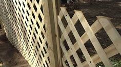 how to make a trellis fencing - YouTube