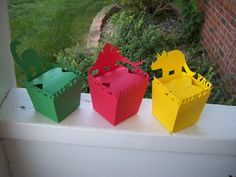 Dinosaur Take Out Box Set of 12 by zbrown5 on Etsy, $14.40