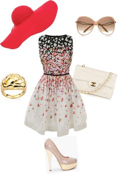 Outdoor Summer Party, created by kjo9 on Polyvore