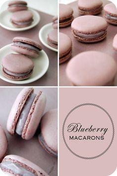 macarrons de blueberry