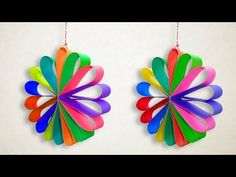 How To Make a Hanging Paper Decorations for Any Part Like Christmas, Birthday, Weeding. It is a Paper Christmas Decorations - Multi Colored Hanging Paper Circle for Christmas Party Decor - Hanging Paper Decorations, Easy Party Decorations, Paper Christmas Decorations, How To Make Decorations, Paper Christmas Ornaments, Christmas Crafts For Kids, How To Make Ornaments, Christmas Diy, Christmas Birthday